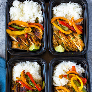 Chili Lime Chicken and Rice Meal Prep Bowls.