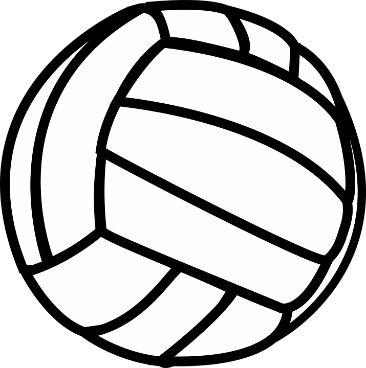 Free vector graphic: Volleyball, Sport, Black, White - Free Image ...