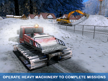 Excavator Pull Tractor: City Snow Cleaner - náhled