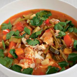 Gordon Ramsay's cod and tomato chowder.