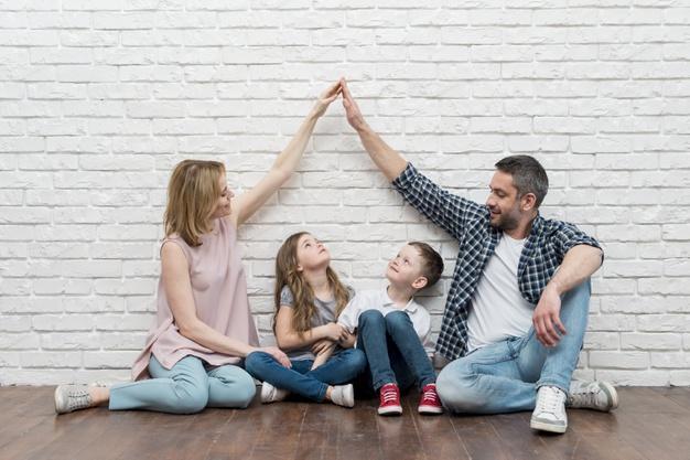 Family at home Premium Photo
