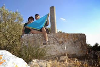 Photo: La Montse (mare de l'AEiG Antoni Gaudí) i el Martí (cap de LL/D) al Puig del Bonany (317m), Mallorca