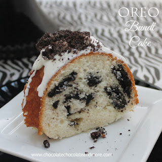 Oreo Cookies and Cream Bundt Cake.