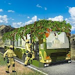 Army Camouflage Bus Driving 3D 2018 Icon
