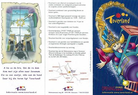 Toverland folder 2001 - 1