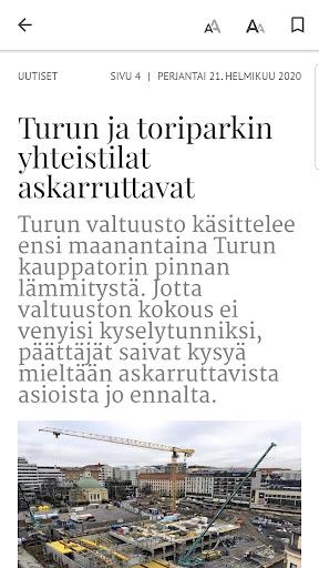 Turun Sanomat näköislehti screenshot 5