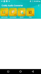 Coddy Audio Converter MP3 M4A AAC OGG FLAC WAV WMA | Apk
