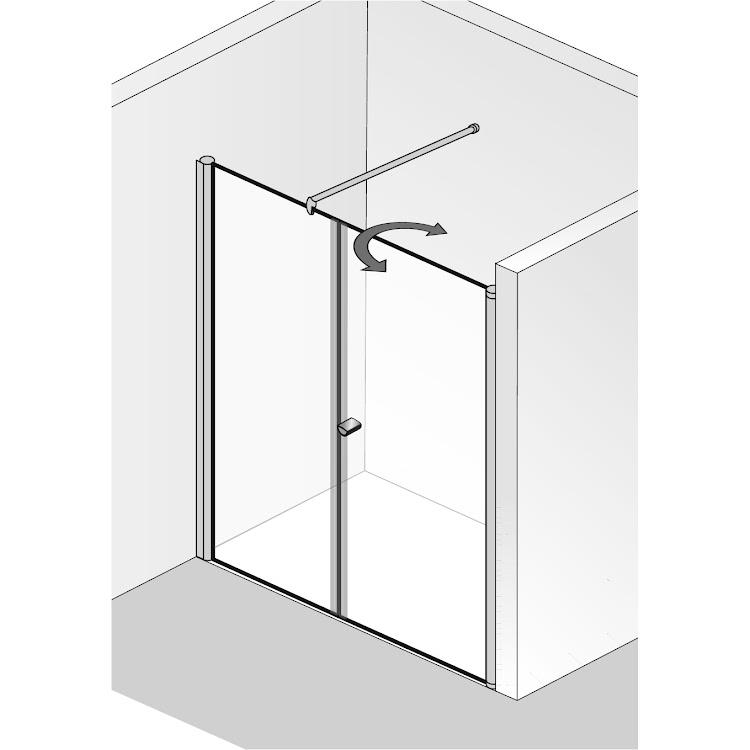 Cabines de douche  _raumnische 2teilig