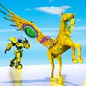 Flying Horse Robot Transform: Horse Shooting Games icon