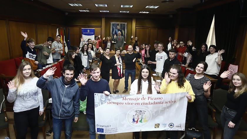 Los jóvenes participantes en el proyecto.