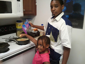 Photo: the kids cooking dinner - 7/15/11