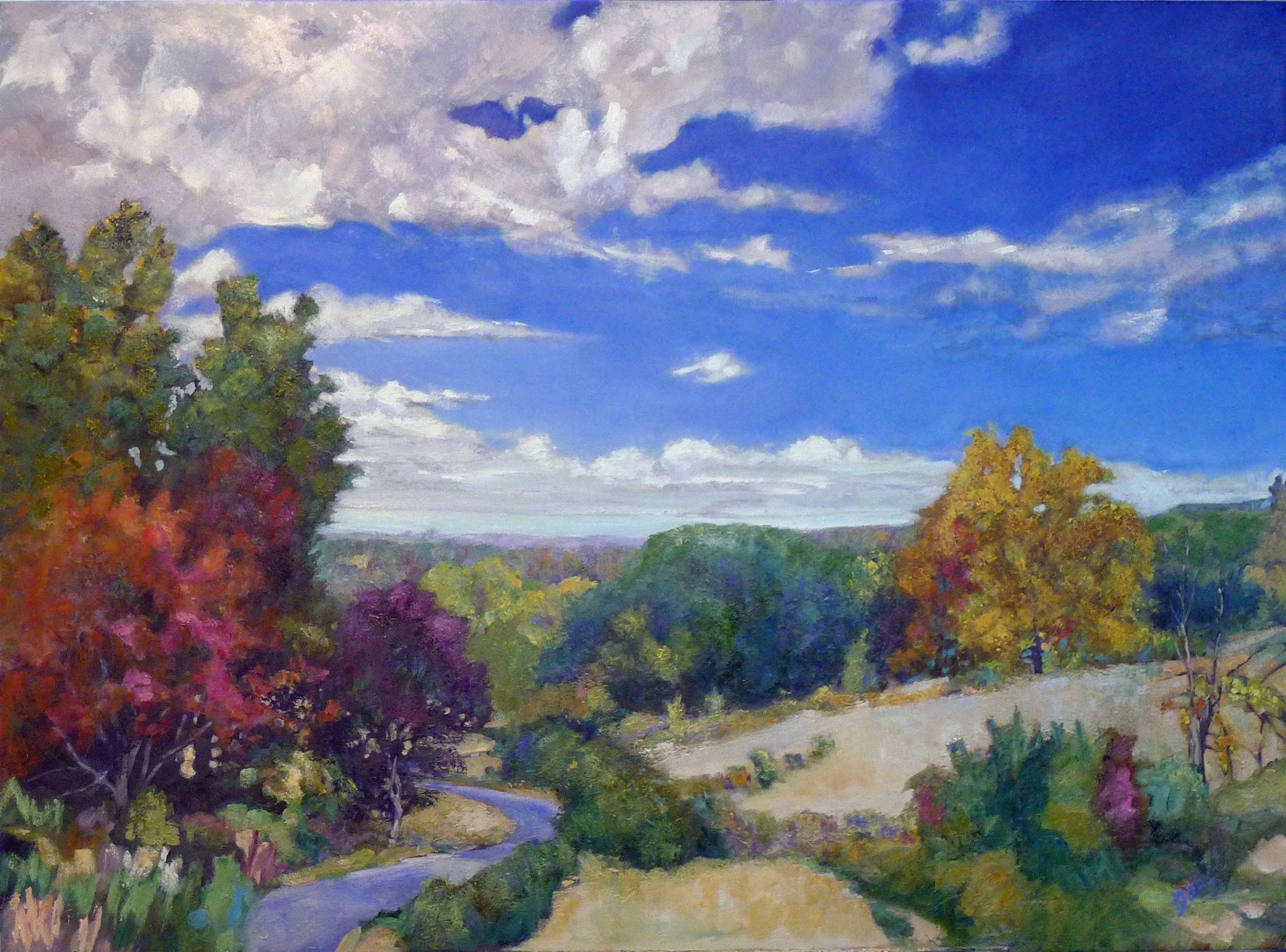 Photo: Summer afternoon reverie—48X36, oil on canvas, private collection.