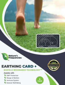 Natures frequencies Earthing card +