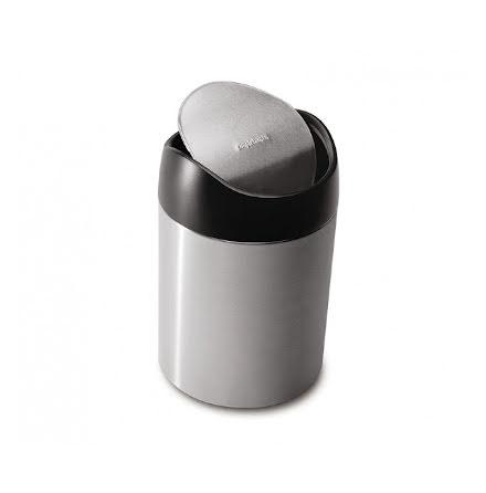 Bords avfallsbehållare Borstat Stål Simplehuman