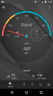 Signal Strength Screenshot