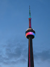 Photo: CN Tower on Gay Pride Day
