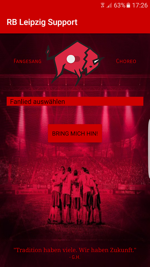 RB Leipzig Support – Screenshot