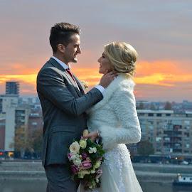 by Sasa Rajic Wedding Photography - Wedding Bride & Groom ( love, kiss )