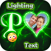 Lighting Text Photo Frames