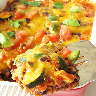 Taco Zucchini Quinoa Casserole
