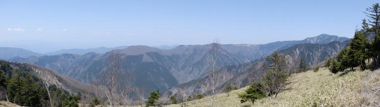 笹原からの展望
