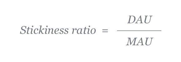 how to calculate stickiness ratio
