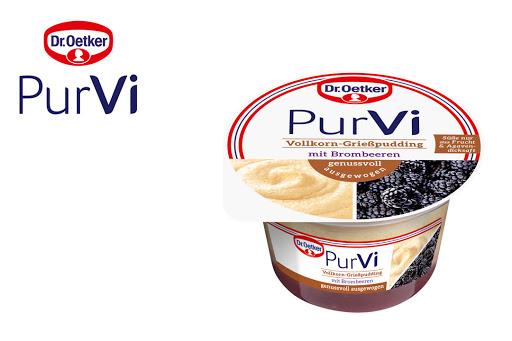 Bild für Cashback-Angebot: 2 für 1 PurVi Vollkorn-Grießpudding Brombeere - Purvi