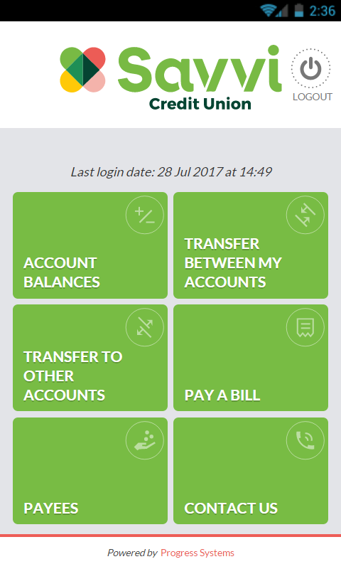 Savvi Credit Union- screenshot