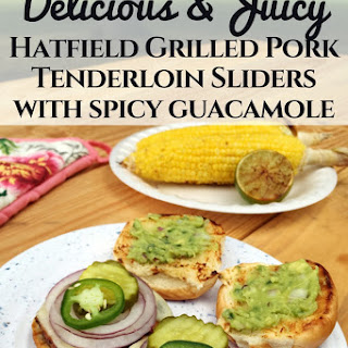 Hatfield Grilled Pork Tenderloin Sliders with Spicy Guacamole.