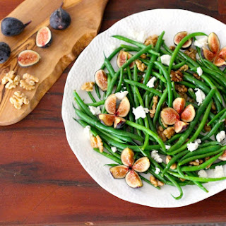 Green Beans with Figs, Walnuts and Goat Cheese Recipe
