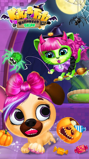 Kiki & Fifi Halloween Salon - Scary Pet Makeover 3.0.25 screenshots 4