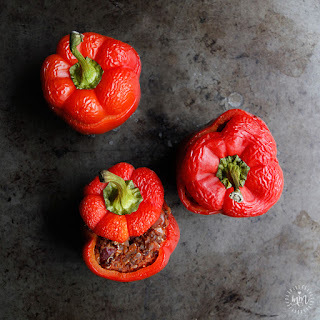 CARVED & STUFFED BAKED BELL PEPPERS