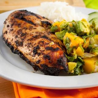 Grilled Jerk Chicken with Mango Avocado Salsa