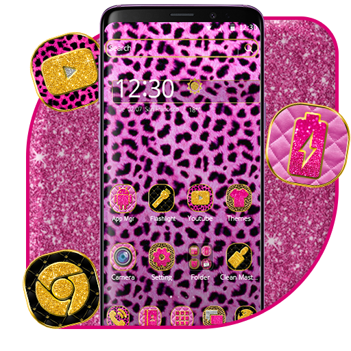 Pink Leopard Skin Theme