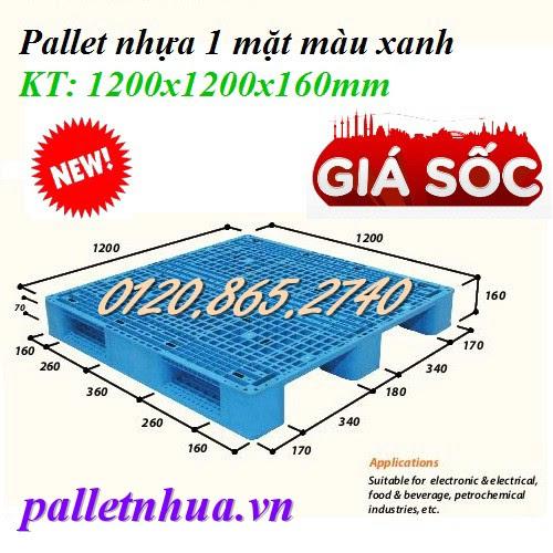 Pallet nhựa 1200x1200x160mm
