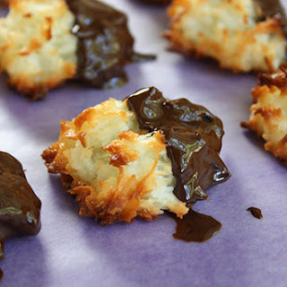 Chocolate-Dipped Coconut Macaroons.