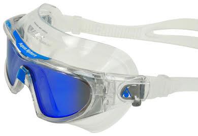 Aqua Sphere Vista Pro Goggles - Transparent w/ Blue Titanium Mirro Lens alternate image 1