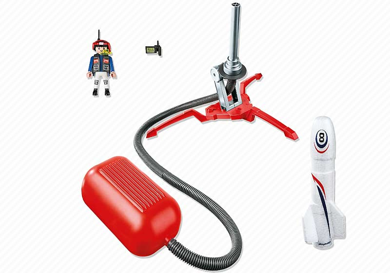 Contenido real de Playmobil® 6187 Cohete con Propulsor
