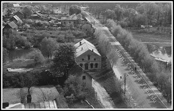 Photo: Ulica Mickiewicza z młynem i stawem sfotografowana z dachu kościoła