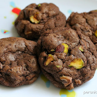 Death By Chocolate Peanut Butter Pistachio Cookies