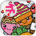Kawaii food Pixel ART Coloring: Color by Number icon