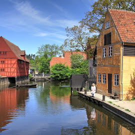 Old Town in Aarhus. Denmark by Roger Gulle Gullesen - Buildings & Architecture Public & Historical