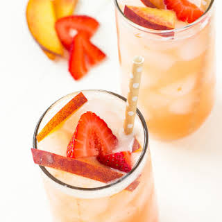 Strawberry Peach Green Iced Tea.
