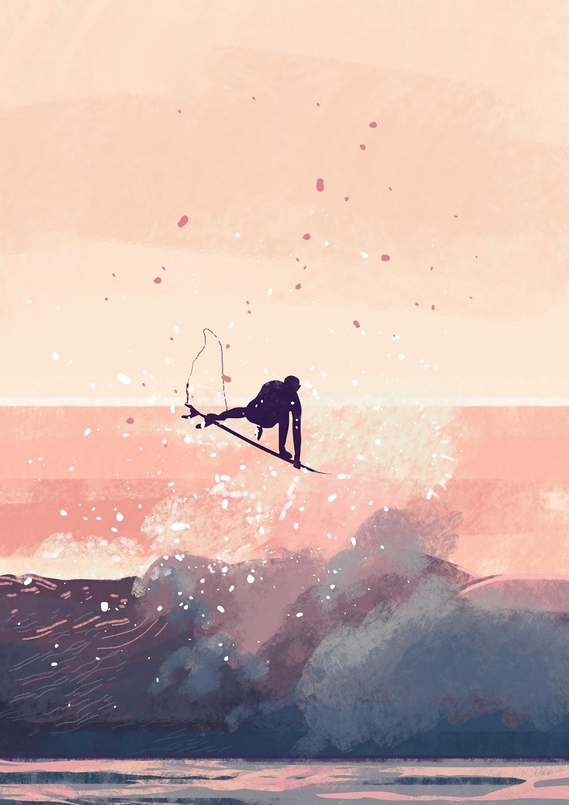 art ArtDirection creative digitalart digtalpainting graphic ILLUSTRATION  Ocean photoshop Surf