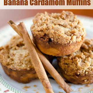 Banana Cardamom Muffins with Streusel Topping
