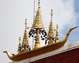 Photo: Day 333 -  Beautiful Chimes on the Wat Roof
