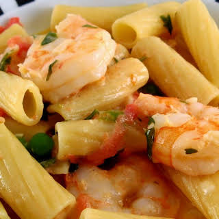 Penne with Shrimp and Herbed Cream Sauce.