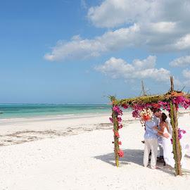 Beach Ceremony by Andrew Morgan - Wedding Ceremony ( zanzibar, wedding, sea, beach, ceremony, island )