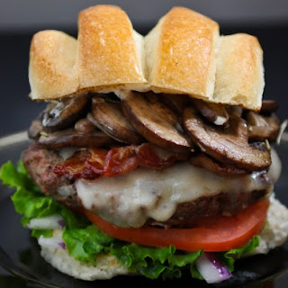 Mushroom Bacon Swiss Burger Recipe