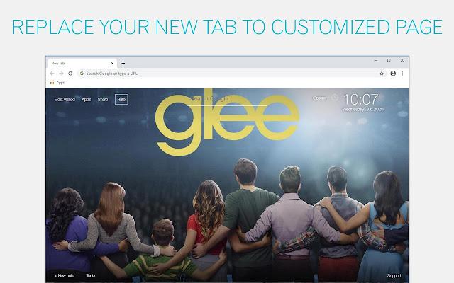 Glee Wallpapers HD New Tab by freeaddon.com